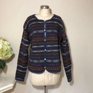 Nordstrom Shetland Wool Cardigan Sweater